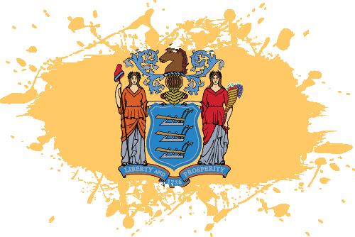 Vector flag of New Jersey - Ink Splat