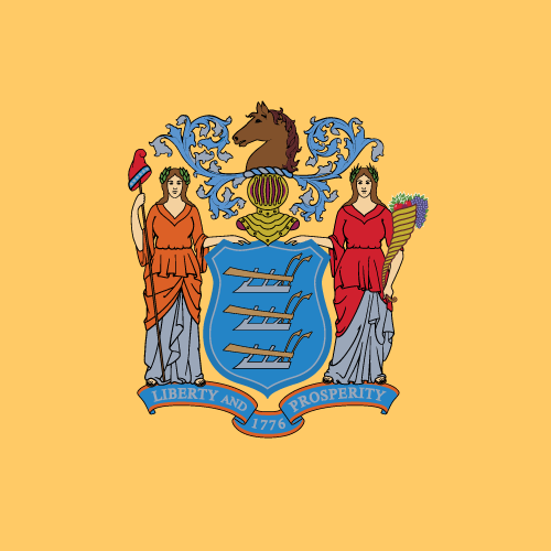 Vector flag of New Jersey - Square