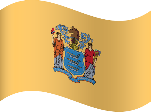 Vector flag of New Jersey - Waving