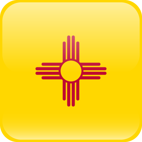 Vector flag of New Mexico - Cube
