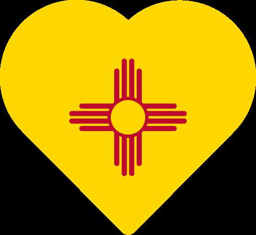 Vector flag of New Mexico - Heart