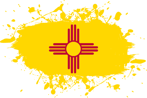 Vector flag of New Mexico - Ink Splat