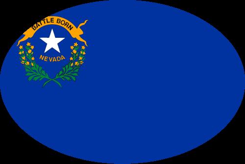 Vector flag of Nevada - Oval