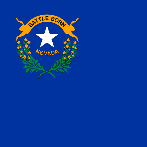Vector flag of Nevada - Square