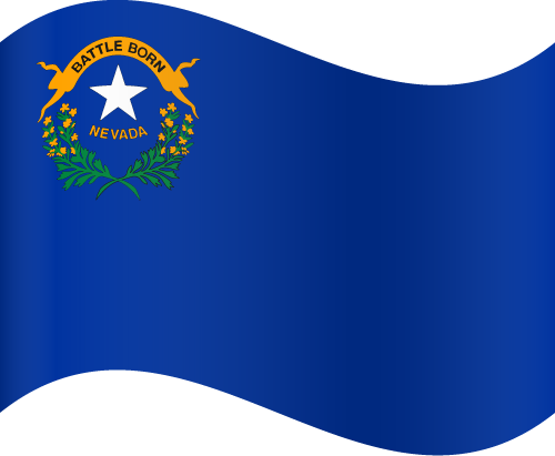 Vector flag of Nevada - Waving