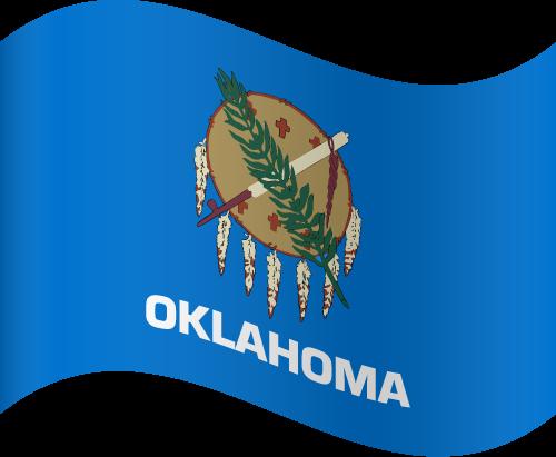 Vector flag of Oklahoma - Waving
