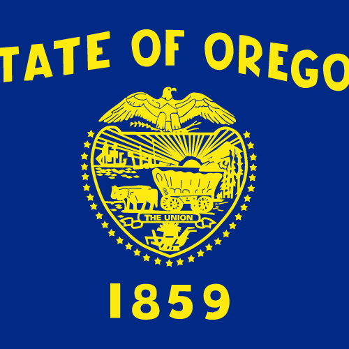 Vector flag of Oregon - Square