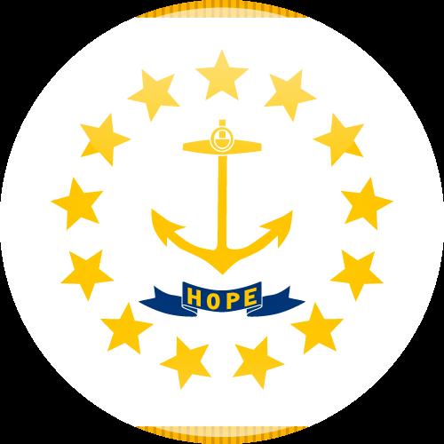 Vector flag of Rhode Island - Sphere