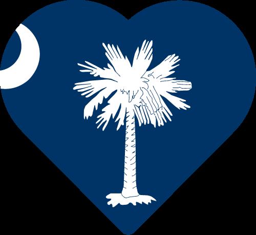 Vector flag of South Carolina - Heart