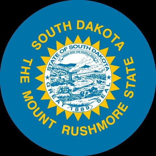Vector flag of South Dakota - Circle