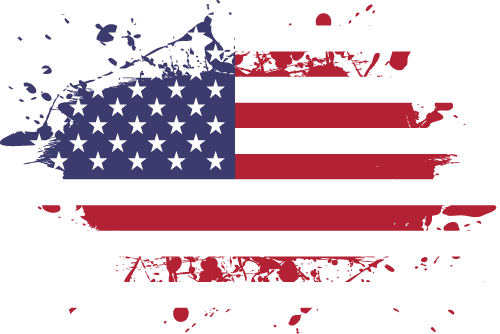 Vector flag of the United States of America - Ink Splat
