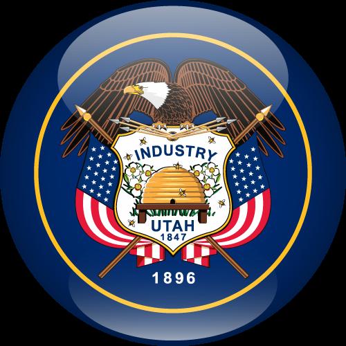 Vector flag of Utah - Sphere