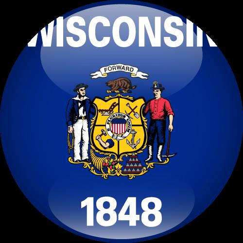 Vector flag of Wisconsin - Sphere