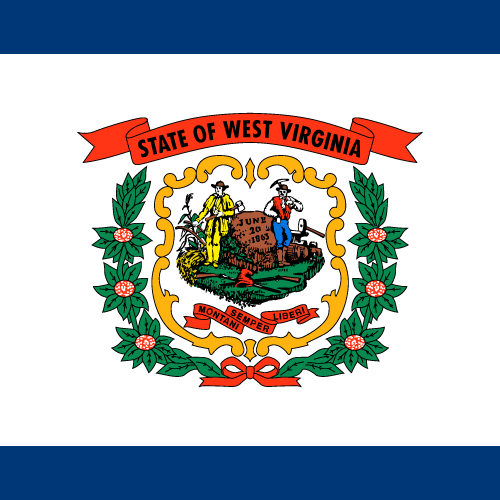 Vector flag of West Virginia - Square