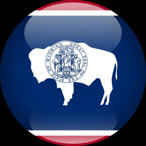 Vector flag of Wyoming - Sphere