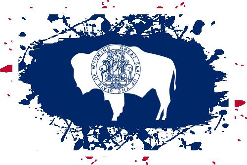 Vector flag of Wyoming - Ink Splat