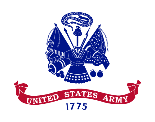 Vector flag of the United States Army