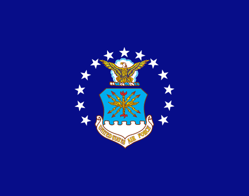 Vector flag of the United States Air Force