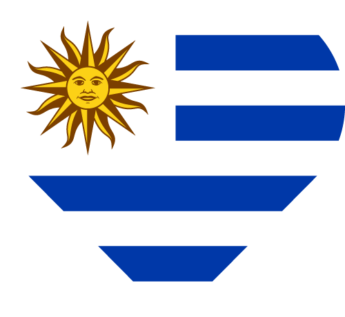 Vector flag of Uruguay - Heart