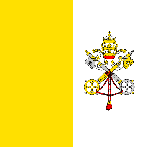 Vector flag of the Vatican City