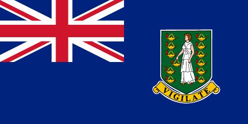 Vector flag of the British Virgin Islands