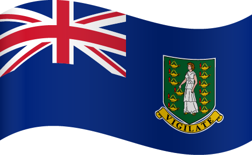 Vector flag of the British Virgin Islands - Waving