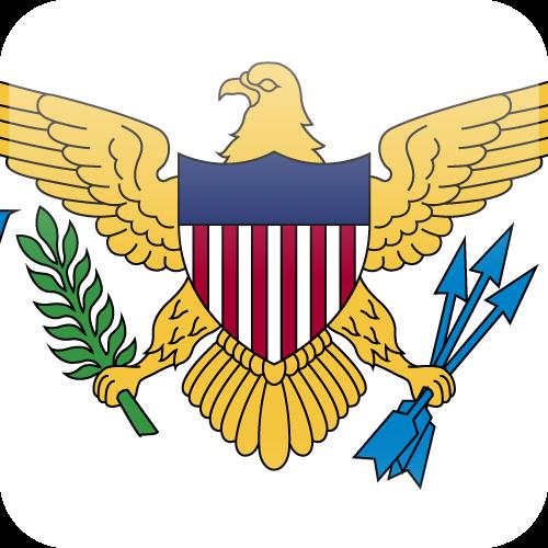 Vector flag of the US Virgin Islands - Cube