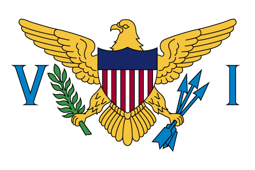 Vector flag of the US Virgin Islands