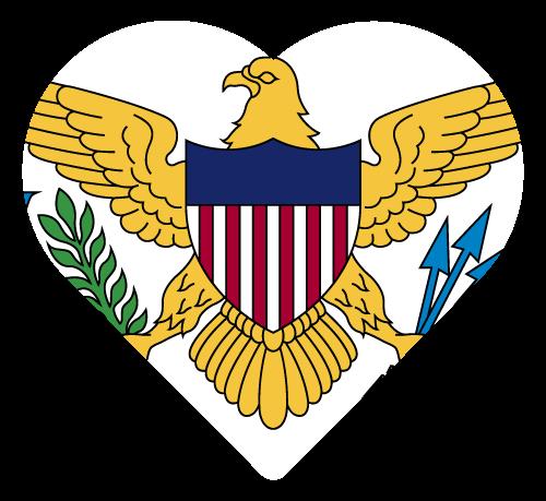 Vector flag of the US Virgin Islands - Heart