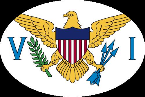 Vector flag of the US Virgin Islands - Oval