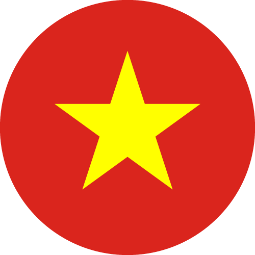 Vector flag of Vietnam - Circle