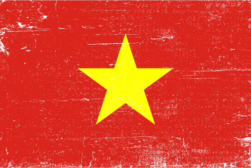 Vector flag of Vietnam - Grunge