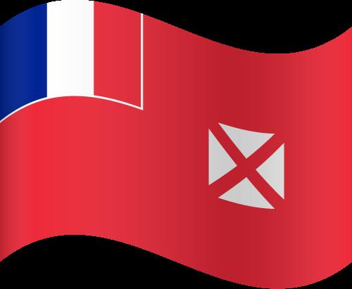 Vector flag of Wallis and Futuna - Waving