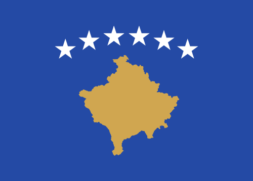 Vector flag of Kosovo