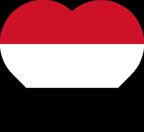 Vector flag of Yemen - Heart