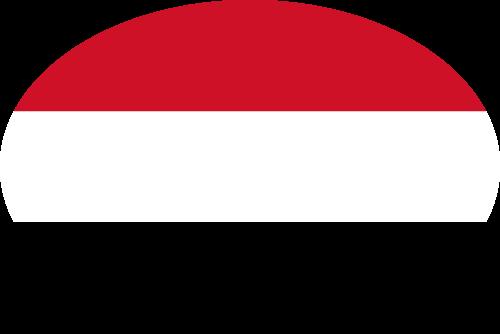 Vector flag of Yemen - Oval