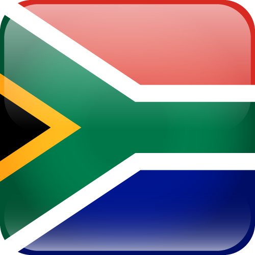 Vector flag of South Africa - Cube