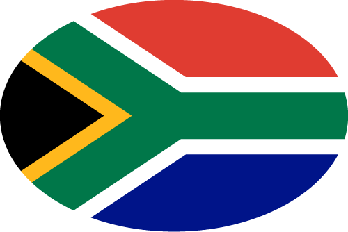 Vector flag of South Africa - Oval
