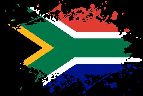 Vector flag of South Africa - Ink Splat