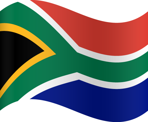Vector flag of South Africa - Waving
