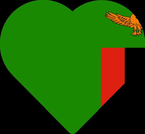 Vector flag of Zambia - Heart