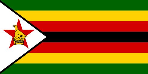 Vector flag of Zimbabwe