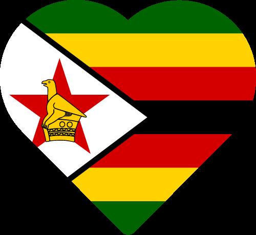 Vector flag of Zimbabwe - Heart