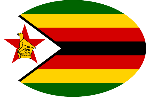 Vector flag of Zimbabwe - Oval