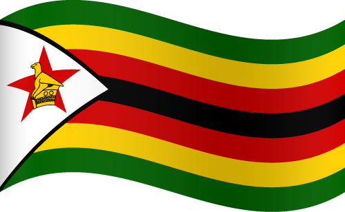 Vector flag of Zimbabwe - Waving